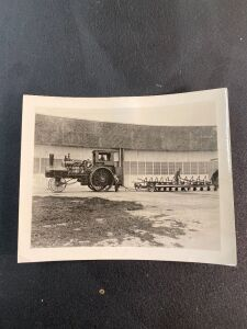 Vintage Photo of Traction Engine with 12 bottom plow