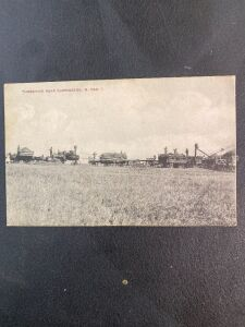 Threshing near Carrington North Dakota Postcard