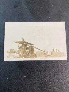Vintage Threshing Postcard