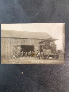 Vintage Traction Engine Postcard