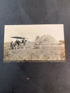 Threshing with Traction Engine Postcard