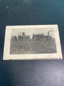 Vintage Traction Engine with Wagon Postcard
