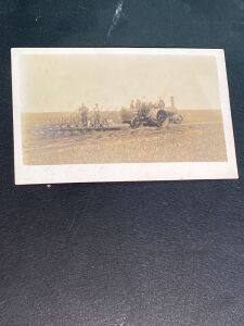 Case Tractor Plowing Postcard