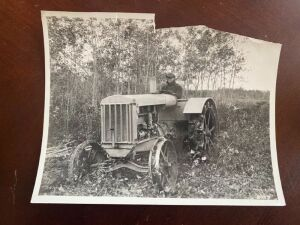 Early Rumely 6 Tractor photograph