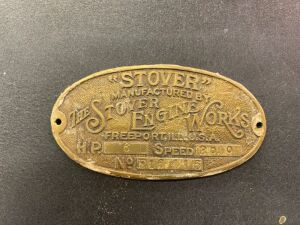 Stover Engine Works serial plate
