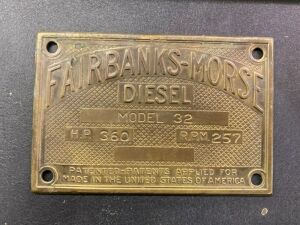 Fairbanks-Morse serial plate