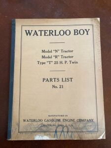 1923 Waterloo Boy Models N, R, and Type T parts list manual