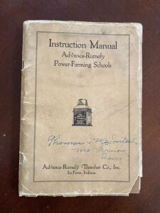 Advance-Rumely Power-Farming Schools Instruction manual