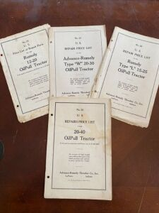 4 Advance-Rumely manuals for the price of one!