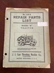 "Case model ""A"" tractor Repair parts list"
