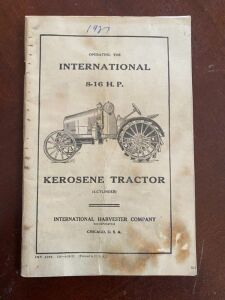 1927 International 8-16 tractor operation manual