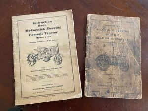 Pair of Instruction books for farmall and McCormick-Deering tractors
