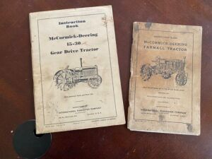 Pair of Instruction Books for McCormick-Deering tractors