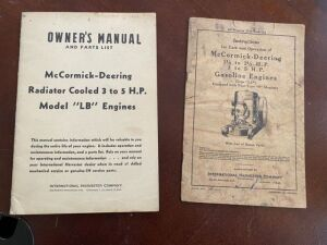 Pair of manuals for stationary engines