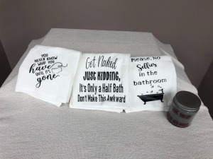 Custom Decal Bathroom Towels