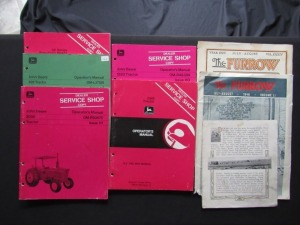 """The Furrow"" (2), JD Shop Copy Operator's Manuals (5) ""Light Draft Binder"" (1)"