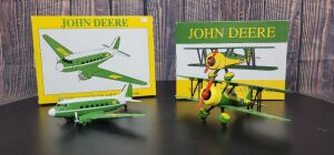 Various Scale Spec Cast John Deere (2)-airplane banks
