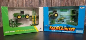 Various Scale 1/64th Ertl John Deere (2)-Farm Sets