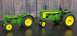 1/16 Scale Customized Ertl/Ertl John Deere (2)-tractors w/fenders