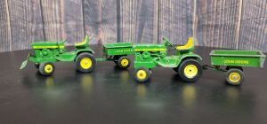 1/16 Scale Ertl John Deere (2)-Model 140 lawn & garden sets