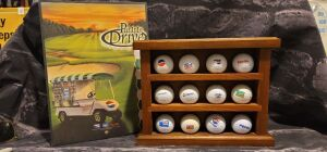 Pepsi Golf Balls with PGA Stand and PGA Program