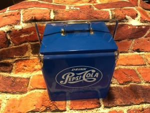 Blue Pepsi Cola Cooler- Metal