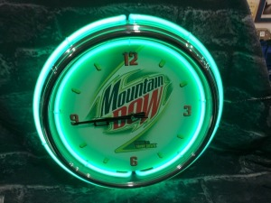 Diet Mt. Dew Neon Clock