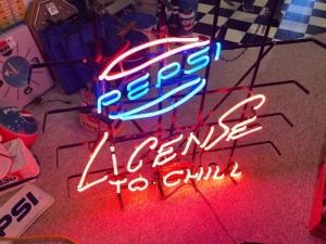 Licensed to Chill Pepsi Neon