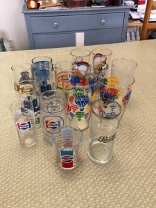 (16) Misc Pepsi Glasses