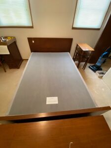 Full size bed frame with tempur pedic foundation