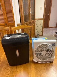 Portable fan and shredder