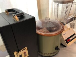 Blender, crockpot, safe box