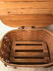 Nice old picnic basket