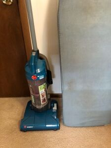 Hoover upright vacuum and ironing board