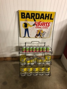 Bardahl Oil Can Rack with Oils