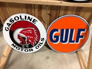 Gulf &Red Indian Sign