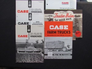 Case Windrowers, etc. Literature Lot (6)