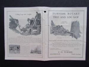 Turner's Rotary Tree and Log Saw