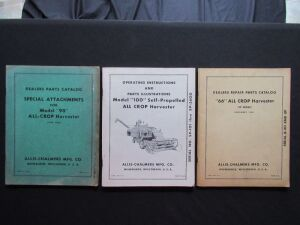 Allis Chalmers Parts Catalogs (3)