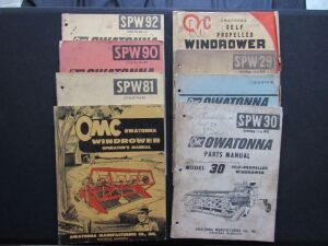 Owatonna Parts & Owners Manuals (8)