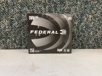 Federal 9mm Luger 115 Grain FMJ - 250 Rounds