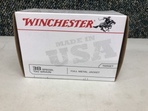 Winchester .38 SPCL 130 Grain FMJ - 80 Rounds