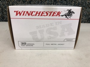 Winchester .38 SPCL 130 Grain FMJ - 100 Rounds