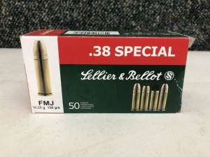 Sellier & Bellot .38 SPCL 158 Grain FMJ - 50 Rounds