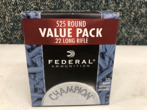 Federal .22 LR 36 Grain HP - 525 Rounds