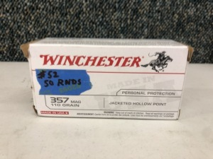 Winchester .357 MAG 110 Grain JHP - 50 Rounds