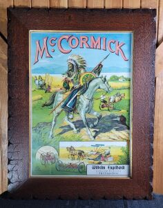 McCormick framed German lithograph print