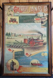 The Geiser Manufacturing Co. framed lithograph