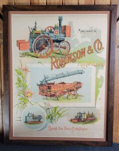 Manufactured by Robinson & Co. framed lithograph