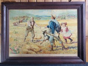 "McCormick ""Back from the War"" framed lithograph"